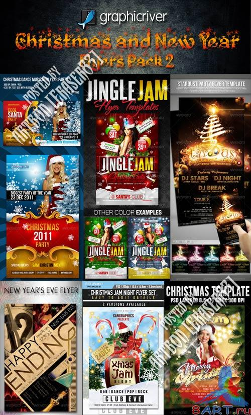 GraphicRiver Christmas and New Year Flyers Collection 2