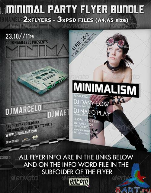 GraphicRiver - Minimal Party Flyer Template Bundle 2550830