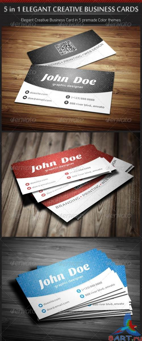 GraphicRiver 5 in 1 Creative Elegant Business Card Template