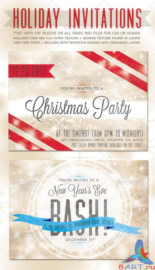 GraphicRiver - Holiday Invitations 977791