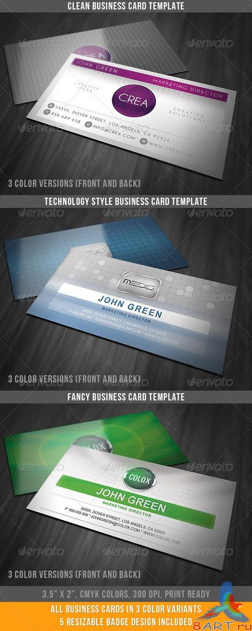 GraphicRiver Fancy And Clean Business Cards Bundle