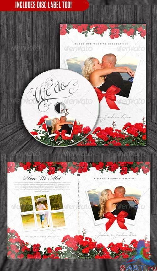 GraphicRiver Red & White Theme Wedding DVD & Disc Label
