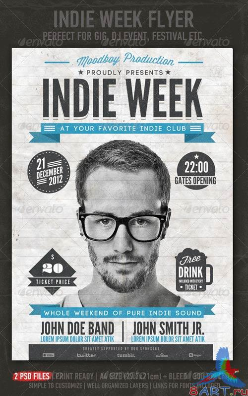 GraphicRiver Indie Week Flyer/Poster