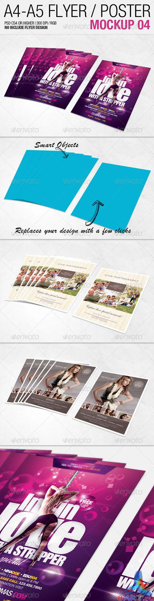 GraphicRiver A4 - A5 Flyer Mockup 04 - 2557645
