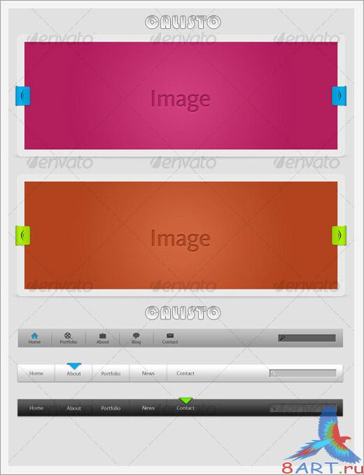 Minimalist Web 2.0 Elements Pack - GraphicRiver