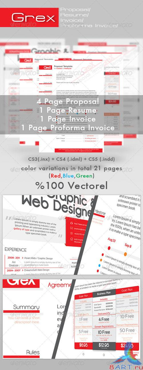 GraphicRiver Grex Proposal/Resume/Invoice Template Package