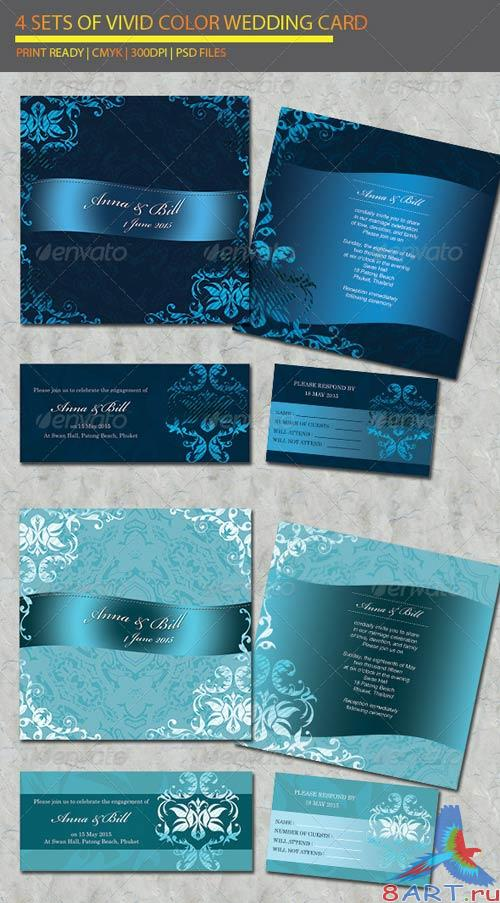 GraphicRiver 4 items Wedding Card