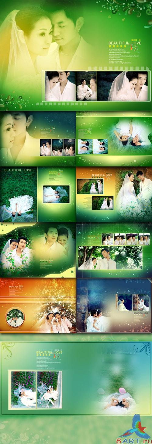 Wedding Photo Templates - The more love beautiful