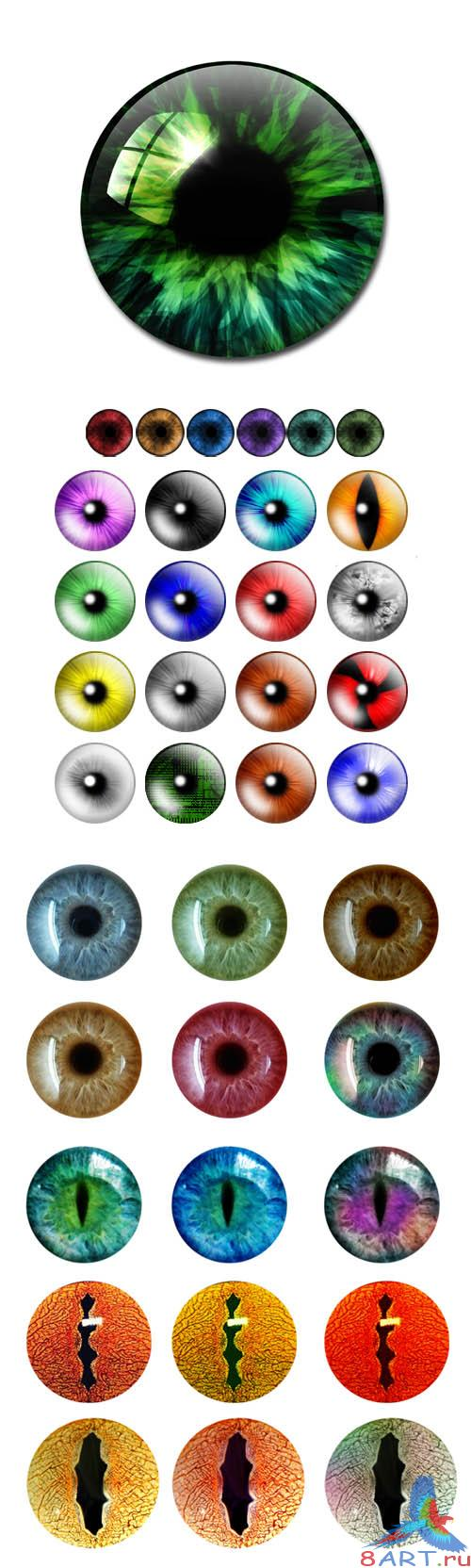 PSD Cliparts - Eyes