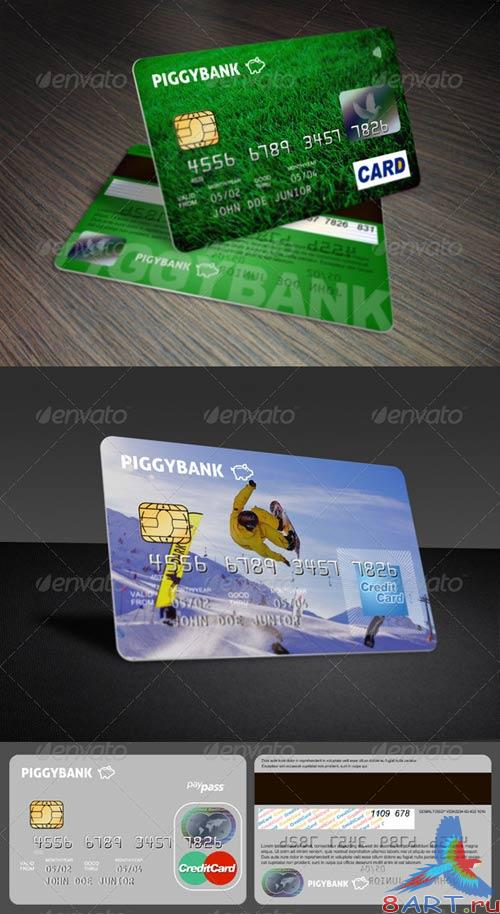 GraphicRiver Credit Cards Mockup