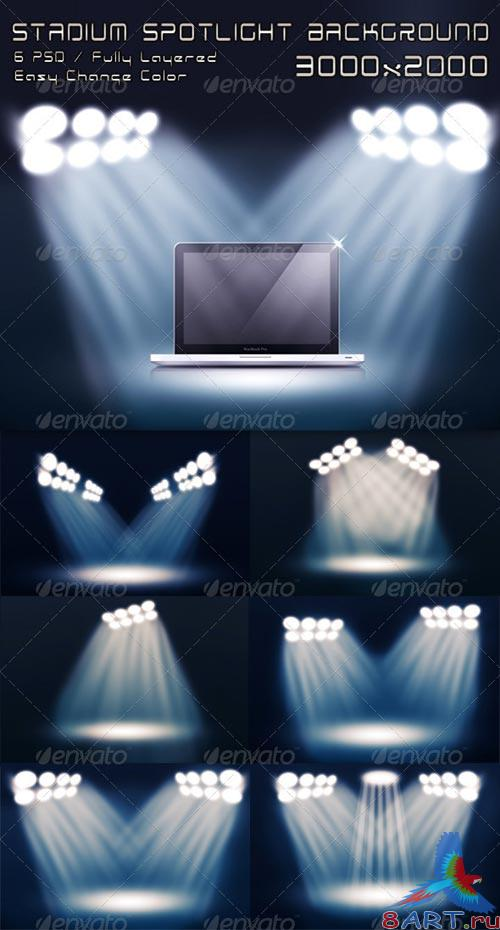 GraphicRiver Stadium Spotlight Background