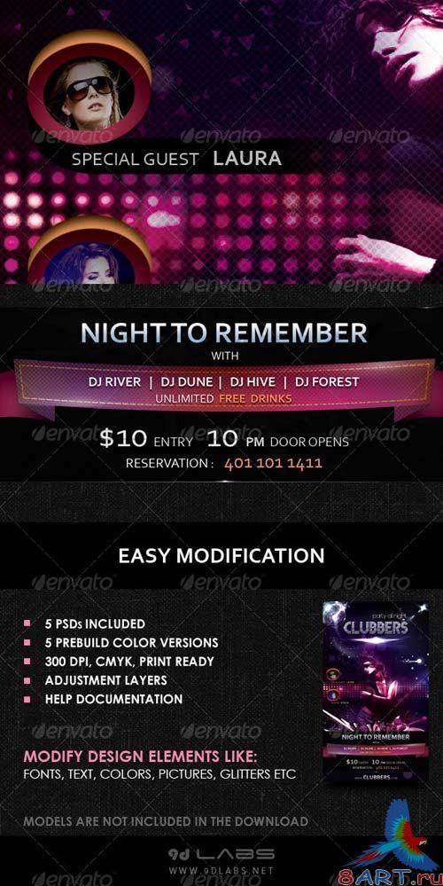 GraphicRiver Clubbers - A Cool Catchy Flyer