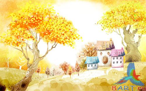 PSD - Autumn Village Template