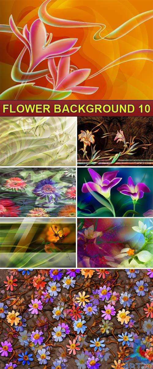 PSD Source - Flower background 10