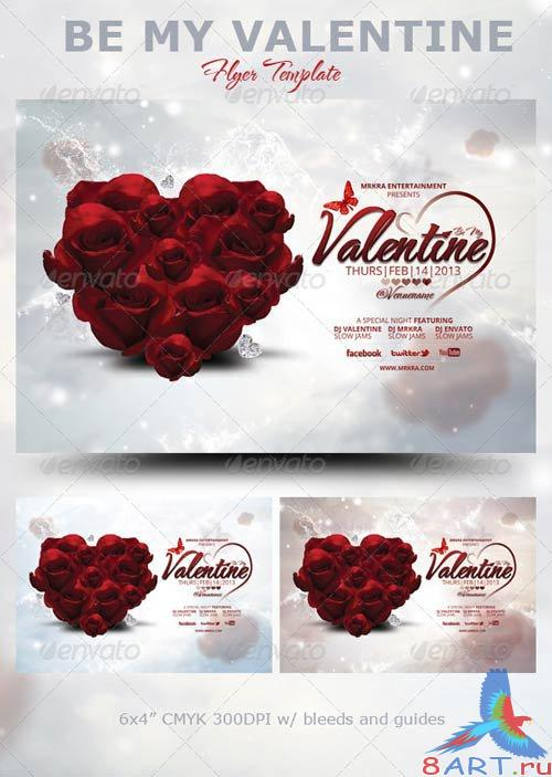 GraphicRiver Be My Valentine Flyer Template