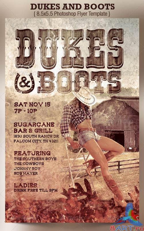GraphicRiver Dukes and Boots Country Flyer Template