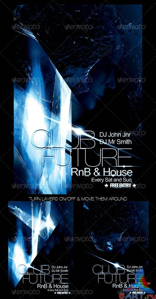 GraphicRiver Futuristic Club Flyer