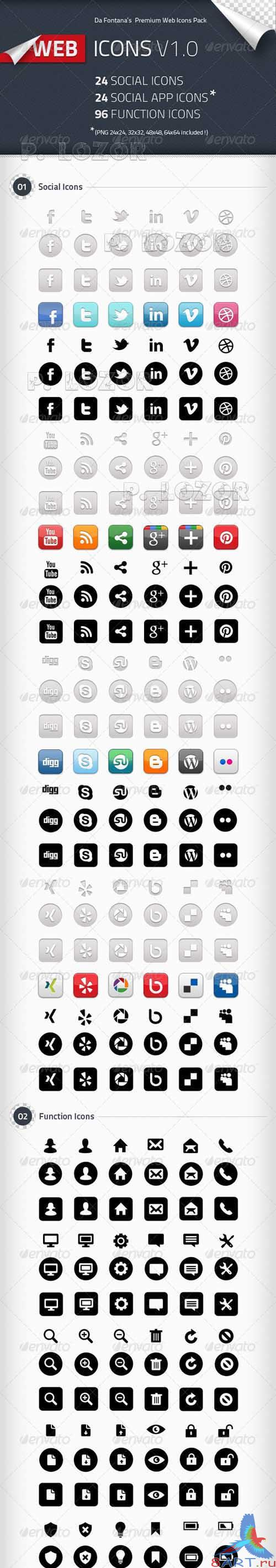Social Icons Social App Icons Function Icons