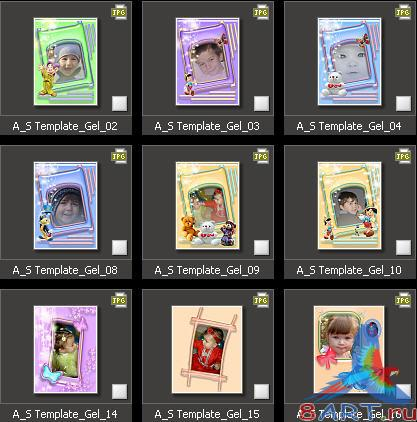 Atmosphere Studio Photo Album Templates - Children 1