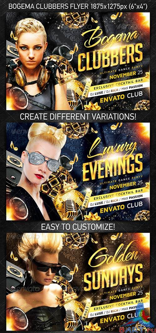 GraphicRiver Bogema Clubbers Flyer