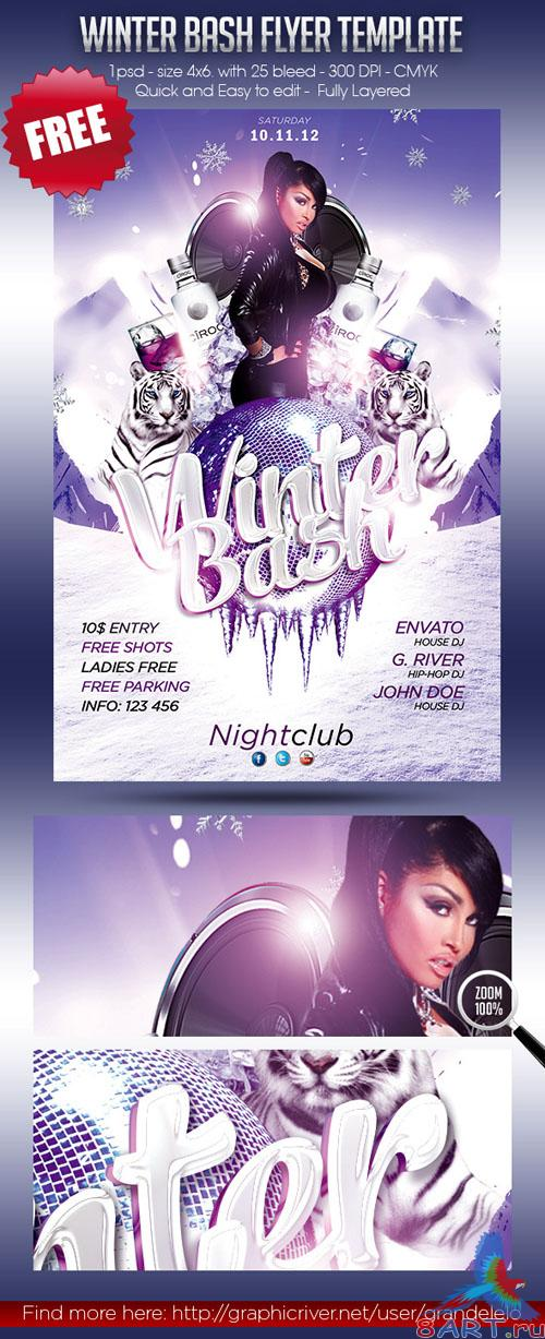PSD Template - Winter Bash Flyer/Poster