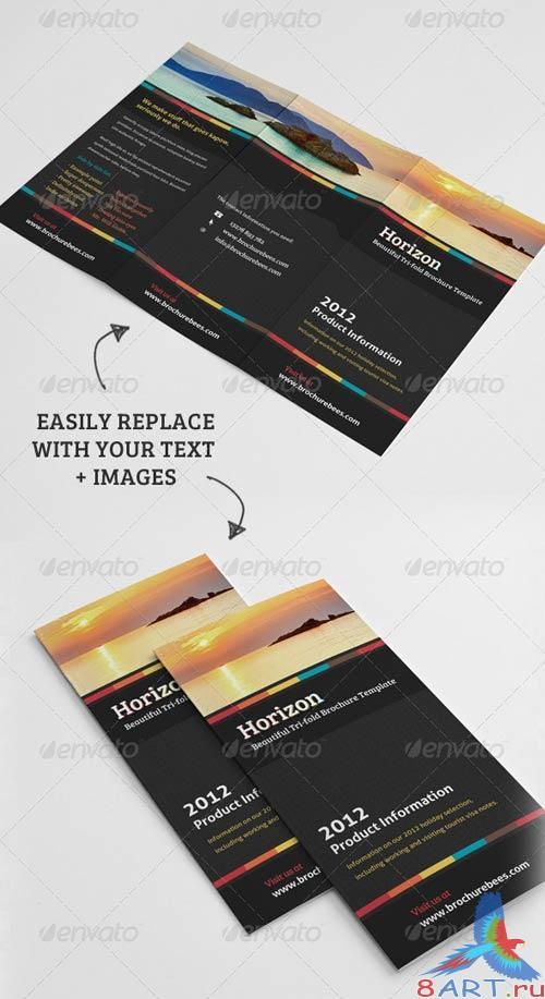 GraphicRiver Horizon Tri Fold Brochure Template