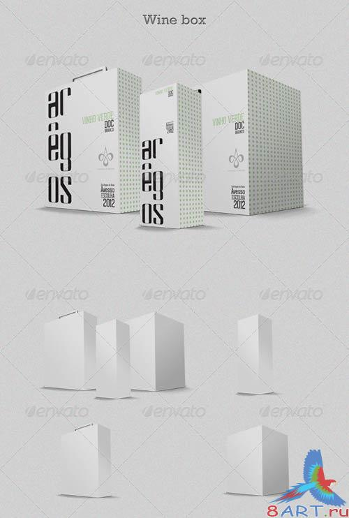 GraphicRiver Wine Box Mock-up
