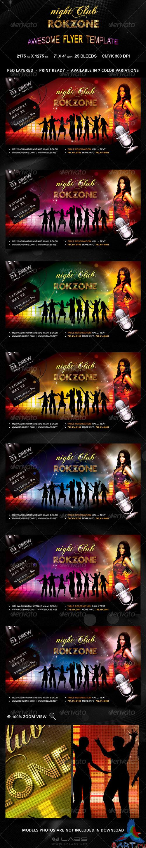 GraphicRiver - Roczone Flyer - 7 Color Variations - Print Ready 2300382