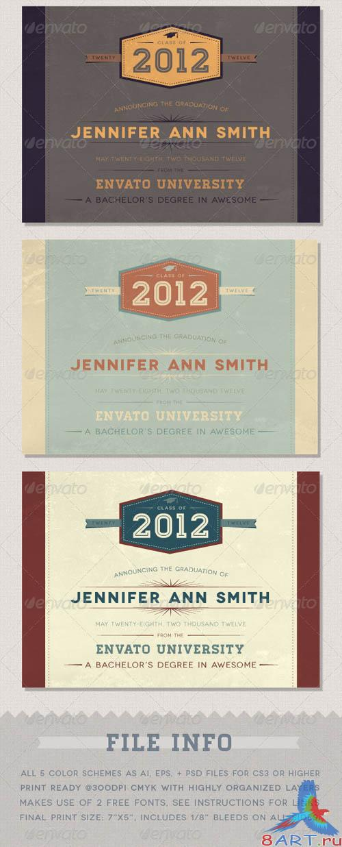 GraphicRiver Graduation Announcement