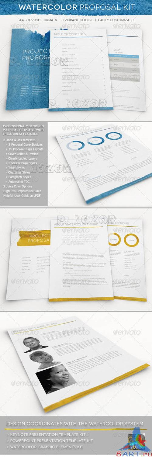 Graphicriver Watercolor Professional Proposal Kit