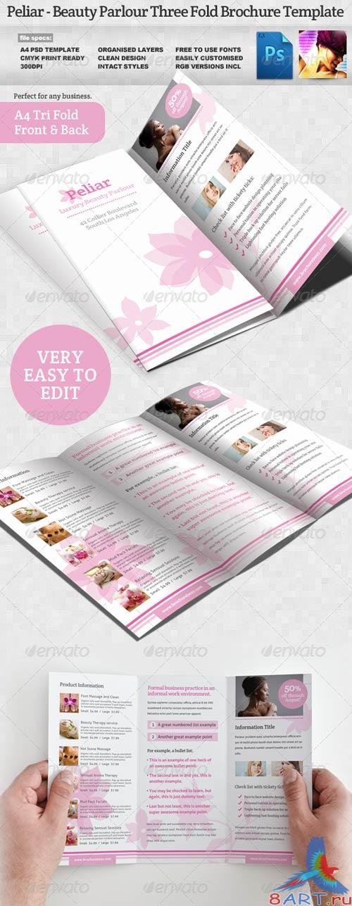 GraphicRiver Peliar Beauty / Hair Salon 3 Fold Brochure