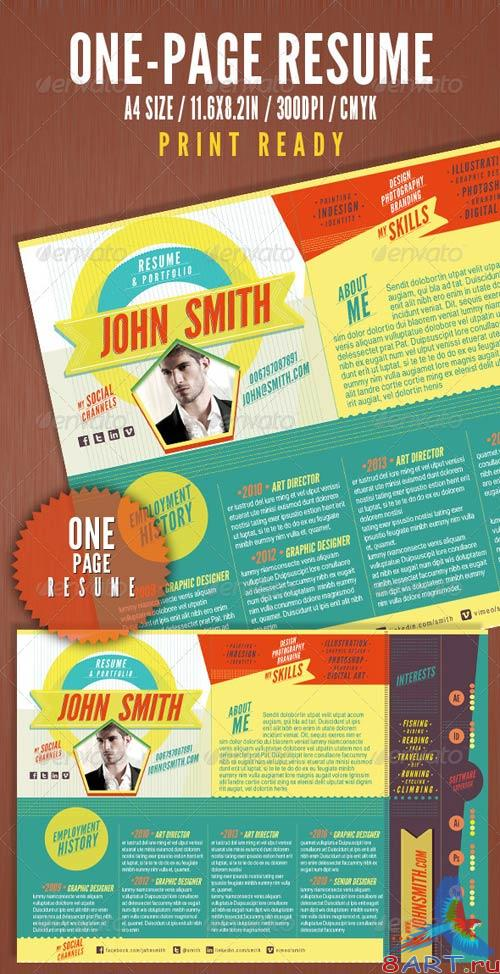 GraphicRiver The One Page Resume