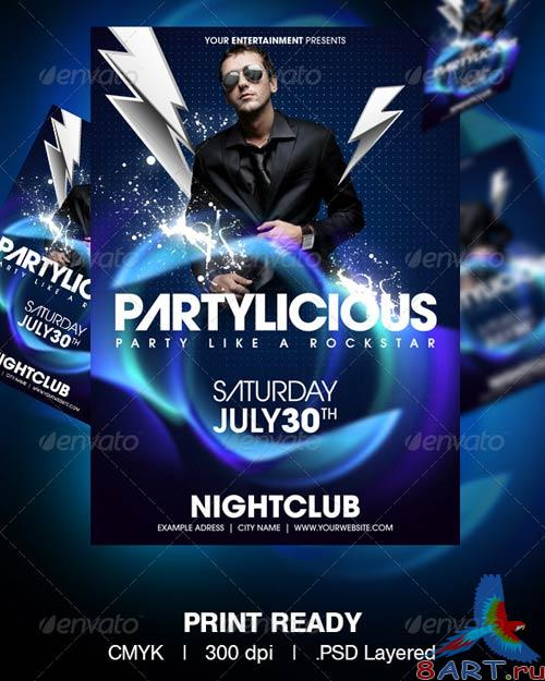 GraphicRiver Partylicious Flyer Template