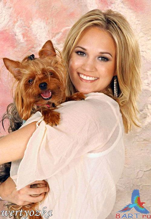 Фото девушки с собачкой 18 фотография