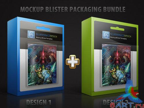 Mock-Up Blister Package PSD Template
