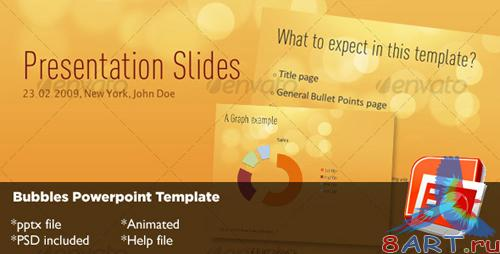 GraphicRiver Bubbles Powerpoint Template