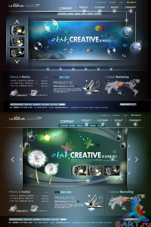 Creative Templates PSD Nr.50