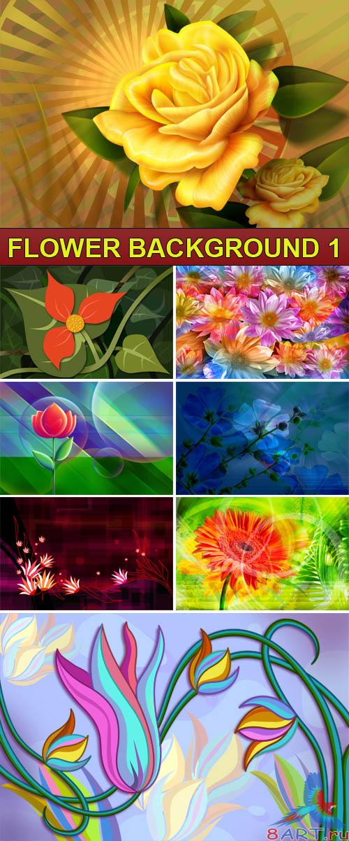 PSD Source - Flower background 1