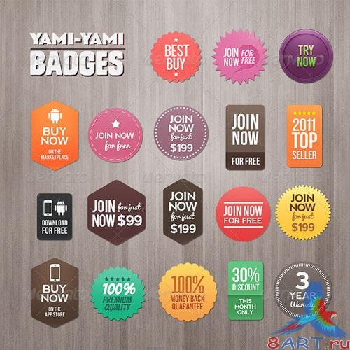 GraphicRiver Yami Yami Badges