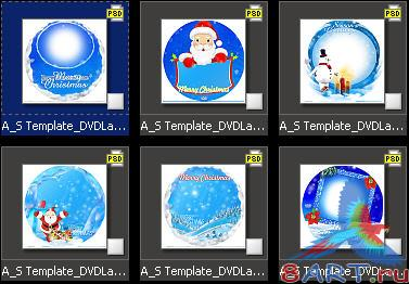 Atmosphere Studio Templates - DVD Cover & Labels v2 - Christmas