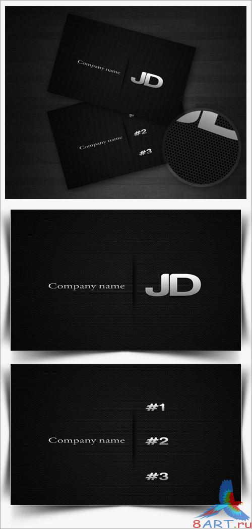Carbon Business Card PSD Template