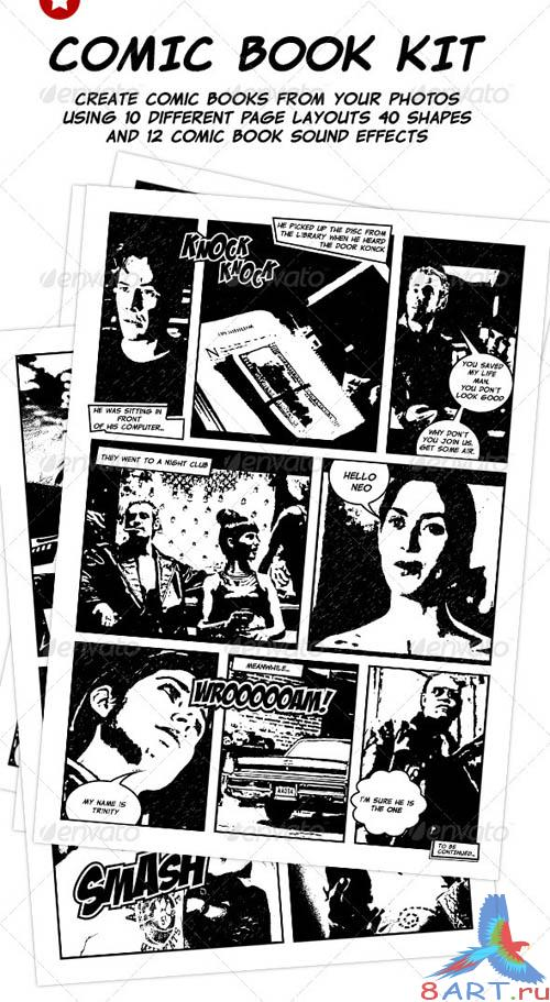 GraphicRiver Comic Book Creation Kit Black & White