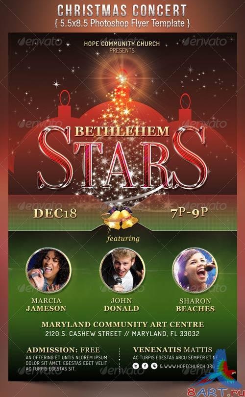 GraphicRiver Christmas Concert Flyer Template