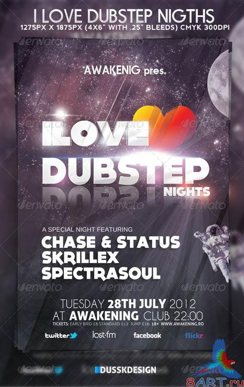GraphicRiver Love Dubstep Nights
