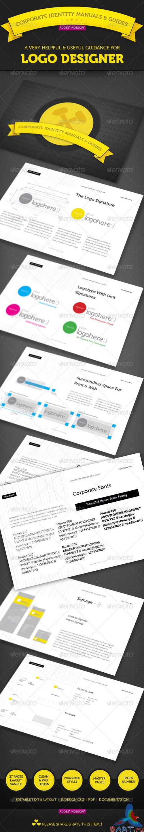 GraphicRiver - Corporate Identity Manuals and Guides Template
