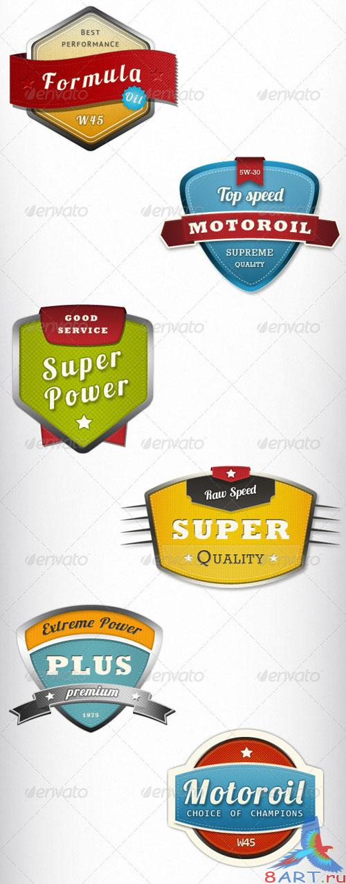 GraphicRiver 6 Modern Trendy Badges