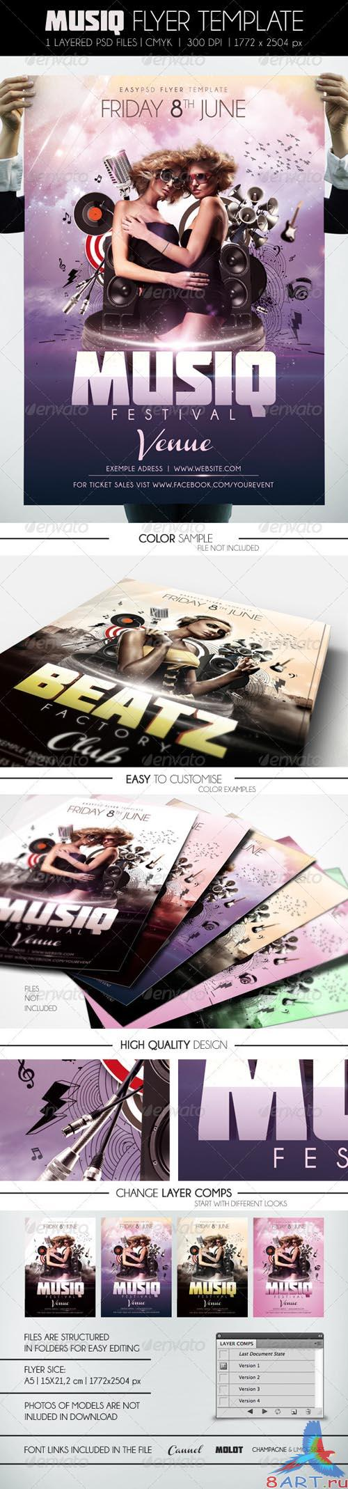 GraphicRiver Musiq Flyer Template - REUPLOAD