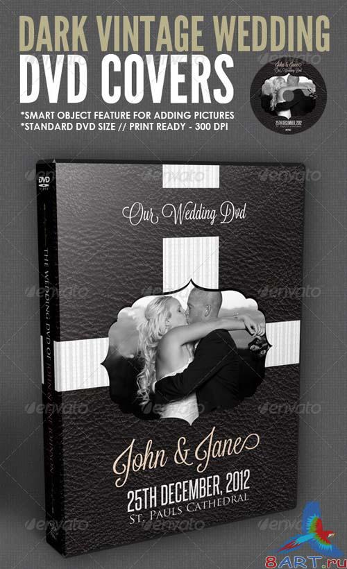 GraphicRiver Dark Vintage Wedding DVD Cover Template