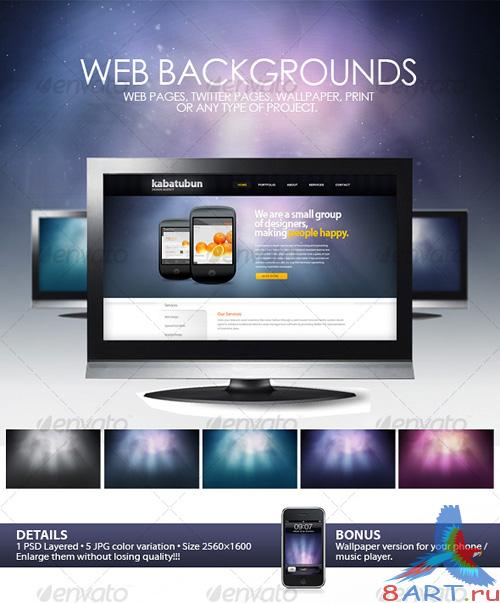 GraphicRiver Space Web Backgrounds - REUPLOAD