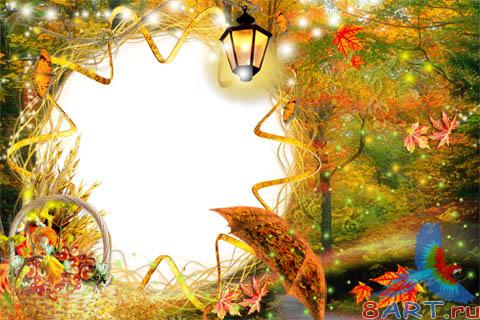 Frame for Adobe Photoshop - Melody of Autumn